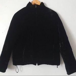Ralph Lauren Petite Velvet Puffer Jacket